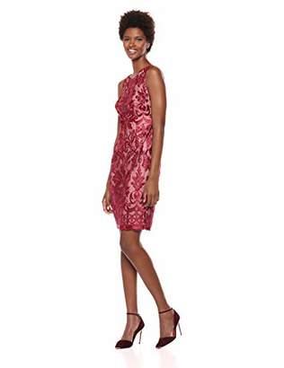 Calvin Klein Women's Sleeveless Embroide Cocktail Dress