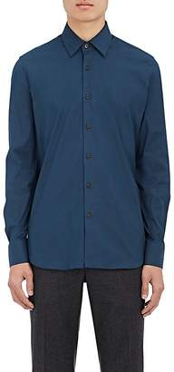 Prada Men's Cotton-Blend Poplin Shirt