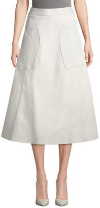Derek Lam Midi A-Line Skirt