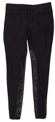 Gucci Leather-Paneled Low-Rise Pants