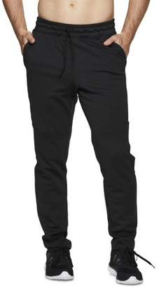 RBX Men's Poly Interlock Tapered Pant with Bonded Diagonal Zipper