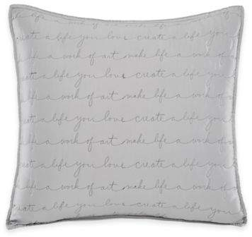 Kathy Davis Signature Standard Pillow Sham in Grey