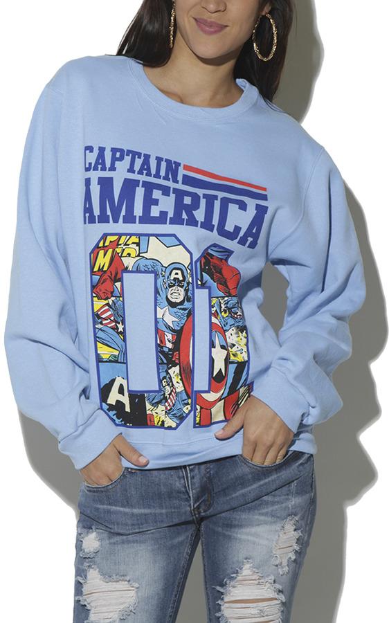 Wet Seal Captain America Athletic Sweatshirt