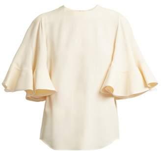 Chloé Fluted sleeve cady top