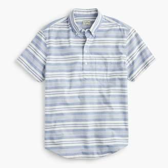 J.Crew Short-sleeve popover shirt in blue stripe