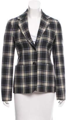 Celine Plaid Wool Blazer