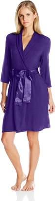 Midnight by Carole Hochman Women's Short Modal Robe