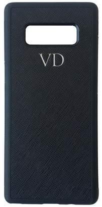Samsung OLIVIA&CO. PERSONALISED MONOGRAM Genuine Leather Galaxy Note 8 Phone Case Black