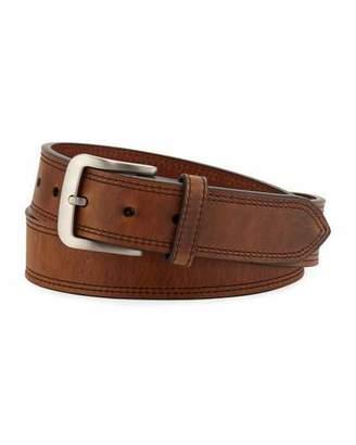 Shinola Men's Navigator Double Stitch Leather Belt