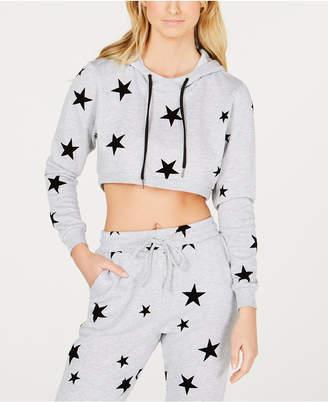 Material Girl Active Juniors' Star Cropped Sweatshirt Hoodie
