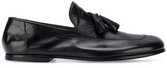 Rocco P. tassel trim loafers