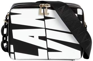Lanvin Logo Printed Leather Camera Bag