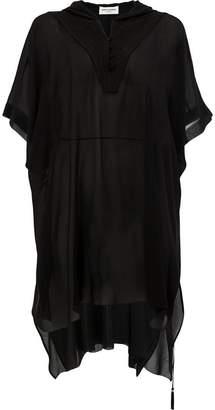 Saint Laurent hooded shirt dress
