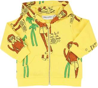 Mini Rodini Monkey Print Organic Cotton Sweatshirt