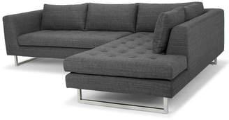 Nuevo Janis Dark Grey Tweed Sofa & Loveseat