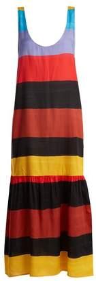 Mara Hoffman - Valentina Scoop Neck Striped Dress - Womens - Black Multi