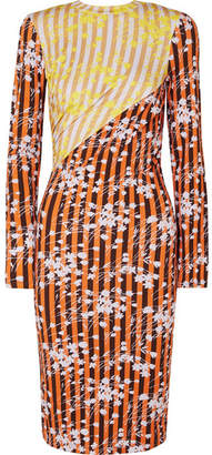 House of Holland Vivid Printed Stretch-jersey Midi Dress - Orange