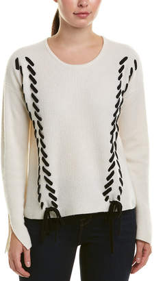 Design History Cashmere Lace-Up Sweater