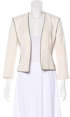 L'Agence Woven Open Front Jacket