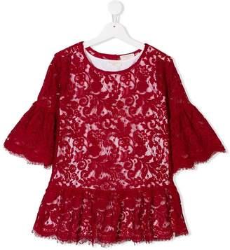 MonnaLisa TEEN floral lace blouse