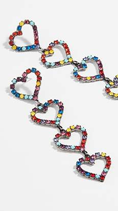 Elizabeth Cole Mila Heart Drop Earrings