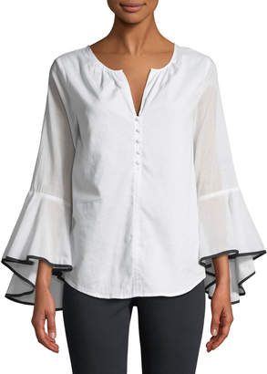 philosophy Bell-Sleeve Button Front Shirt