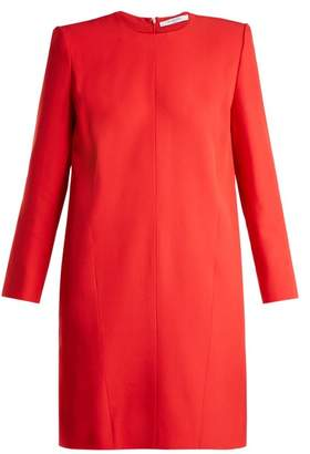 Givenchy Crepe Shift Dress - Womens - Red