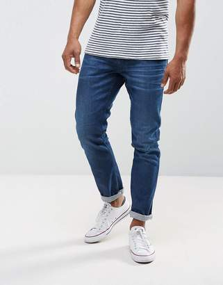 Replay Anbass stretch slim jeans in mid wash metal blast
