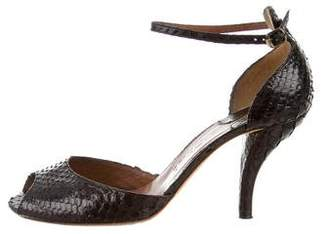 Chloé Embossed Ankle Strap Sandals
