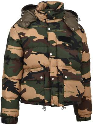 Off-White Off White Camouflage Puffer Jacket
