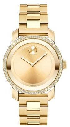 Women's Movado 'Bold' Diamond Bezel Bracelet Watch, 36Mm $1,595 thestylecure.com