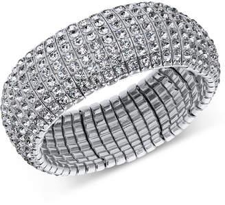 INC International Concepts I.n.c. Silver-Tone Crystal Stretch Bracelet