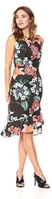 Suite Alice Women's Sleeveless Crewneck Fit Bodice Flare Hem Print Dress