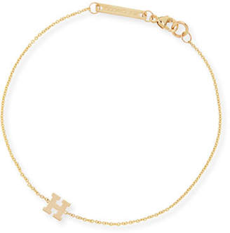 Chicco Zoe Gold Block Initial Bracelet
