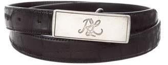 Ralph Lauren Sterling Silver Alligator Belt