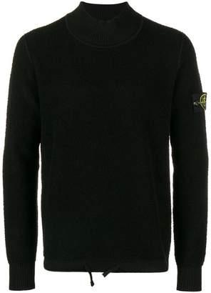 Stone Island high neck jersey sweater