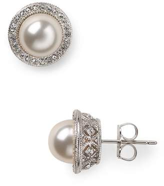 Nadri Simulated Pearl Stud Earrings