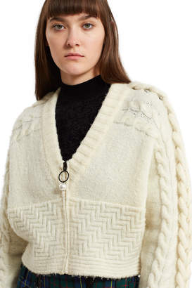 Opening Ceremony Oversized Cable Cardigan