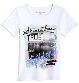 True Religion TODDLER/BIG KIDS MULTIMEDIA TEE