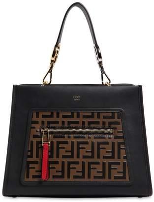 Fendi Small Runaway Leather Tote Bag