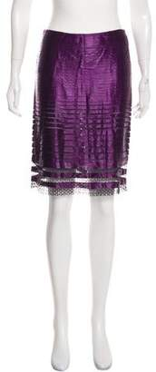 Tom Ford Silk and Macramé Skirt