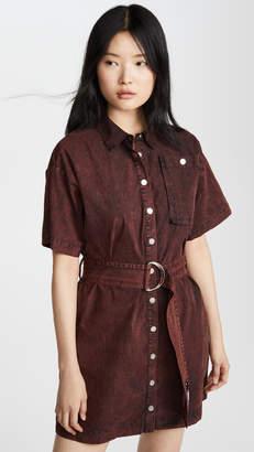 Proenza Schouler PSWL Short Sleeve Belted Dress