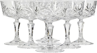 1960s Star Pattern Glass Coupes, S/7