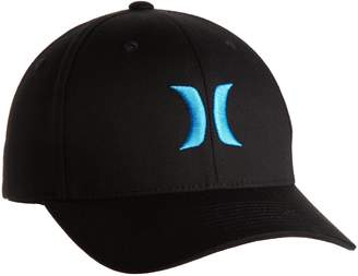 Hurley Men's One And Only Black Flexfit Hat, Blue