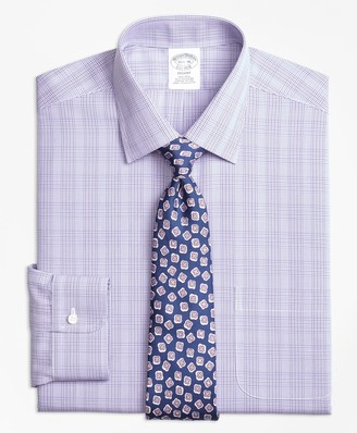 Brooks Brothers Regent Fitted Dress Shirt, Non-Iron Tonal Plaid
