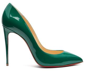 Christian Louboutin Pigalle Follies 100 Patent Leather Pumps - Womens - Green