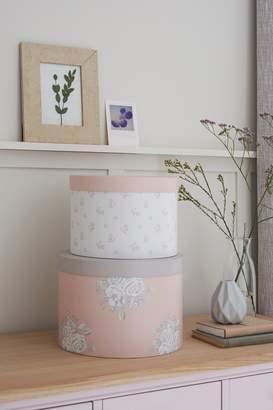 Next Set of 2 Pink Storage Boxes