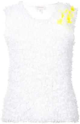DELPOZO embroidered knit tank top