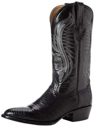 Ferrini Men's Genuine Lizard R-Toe Western Boot