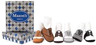 Trumpette Boys' Mason Oxford-Print Socks, Set of 6 - Baby